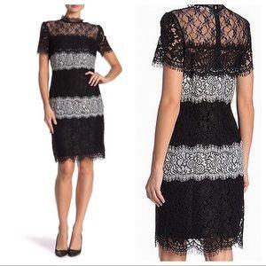 Everleigh Sheer Yoke Multi-Lace Dress